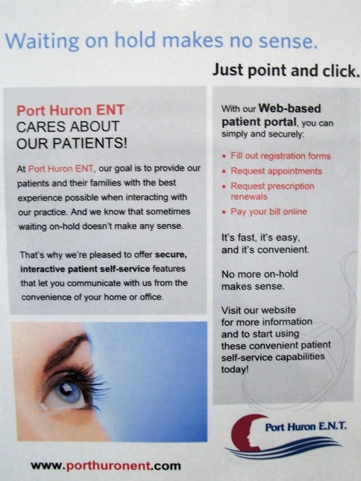 patient portal poster advertisement