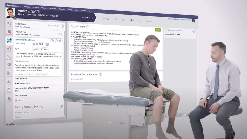 athenahealth ehr software clinicals